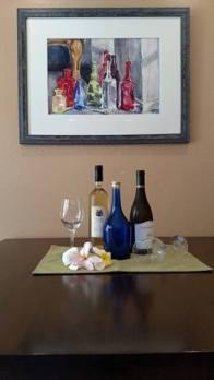 Bottles in a Corner 2015 Framed