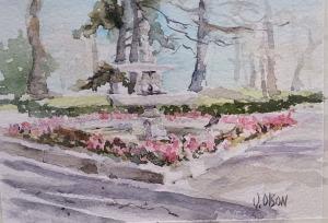 Fountain in Retiro Park - Madrid, Spain
