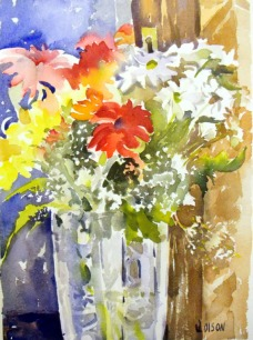 Winter Flowers in Crystal Vase 2015