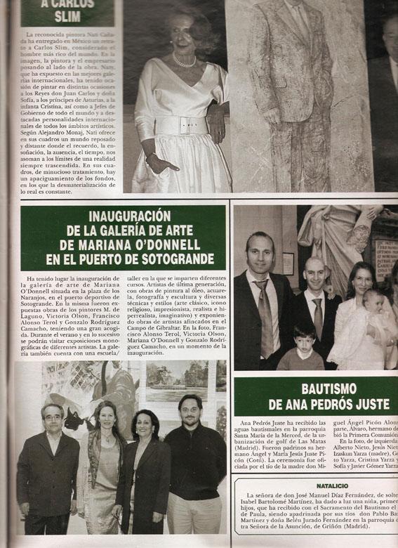 Inauguracion de la Galeria de Arte de Mariana O'Donnell en el Puerto de Sotogrande 2012