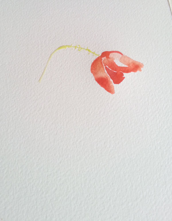 First I started with the tallest area and measured the rest of the poppies to that one.