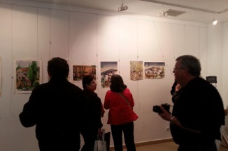 Watercolor exhibition at the Cultural Center in Trillo