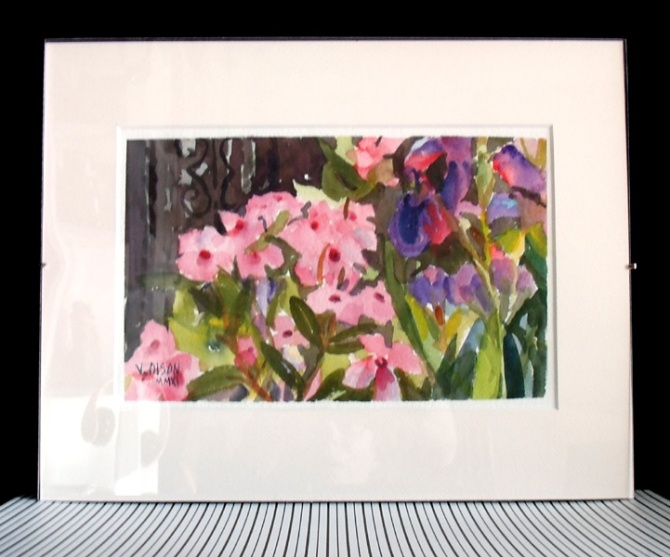 pink-flowers-with-irises-2011-matted