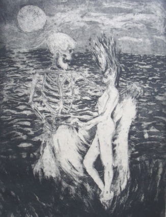 1984 - Death and I - Etching