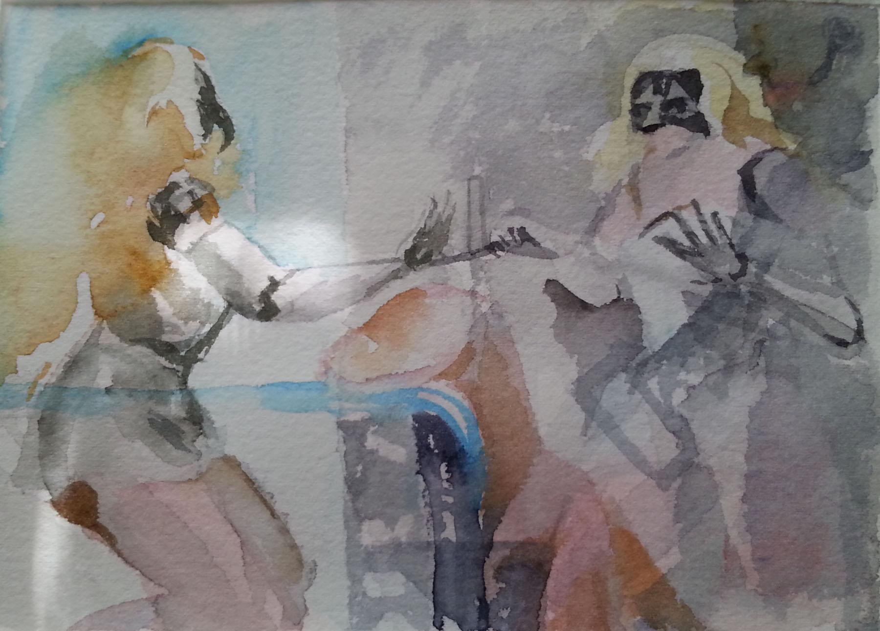 rough draft watercolor tempera resin oil mixed media victoria