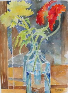 Flowers in Blue Bottle 2015