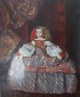 Reproduction of Diego Velazques'  La Infanta Doña Margarita de Austria by Victoria Olson O'Donnell