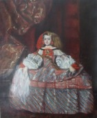 Reproduction of Diego Velazques'  La Infanta Doña Margarita de Austria by Victoria Olson O'Donnell