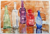 Glass Bottles in the Rain 2014