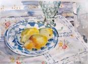 Pears on Blue Plate 2014
