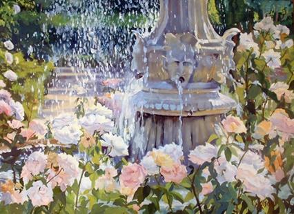 Rose Garden in June Madrid Spain 2008