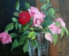 Spring Roses in Crystal Vase 2014