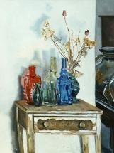 Bottles on Old Table 1998