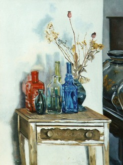Bottles on Old Table 1998
