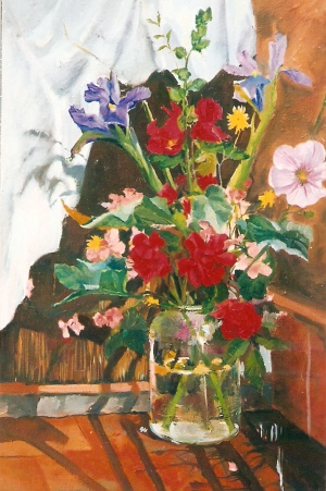 Bouquet of Flowers in a Pickle Jar 2003