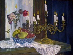 Candelabra with Fruit Bowl at Noon 2005