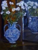 Daisies in Talavera Vase 2006