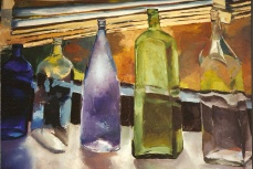 Glass Bottles in the Litho Department 1992