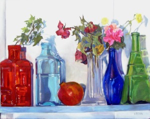 Glass Bottles with Pomegrante 2006