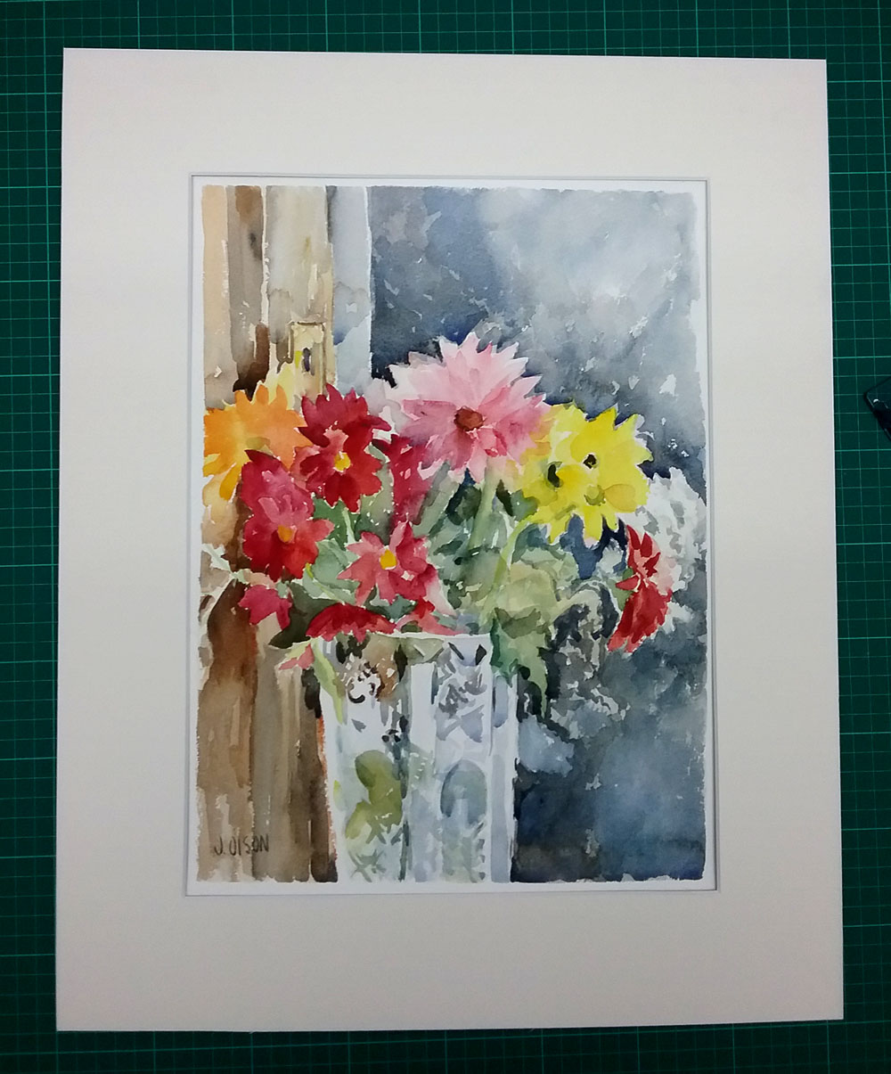 Matted Watercolor