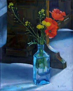 Poppies in Blue Bottle 2006