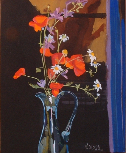 Blue Vase with Wild Flowers 2011