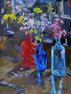 Bottles with Spring Flowers 2006