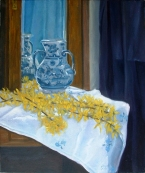 Talavera Vase with Yellow Flowers 2006 -Location Unknown,Lost