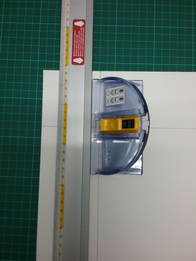 Slip Proof Ruler and Bevel Cutter
