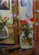 Wild Flowers and Poppies in Pickle Jar