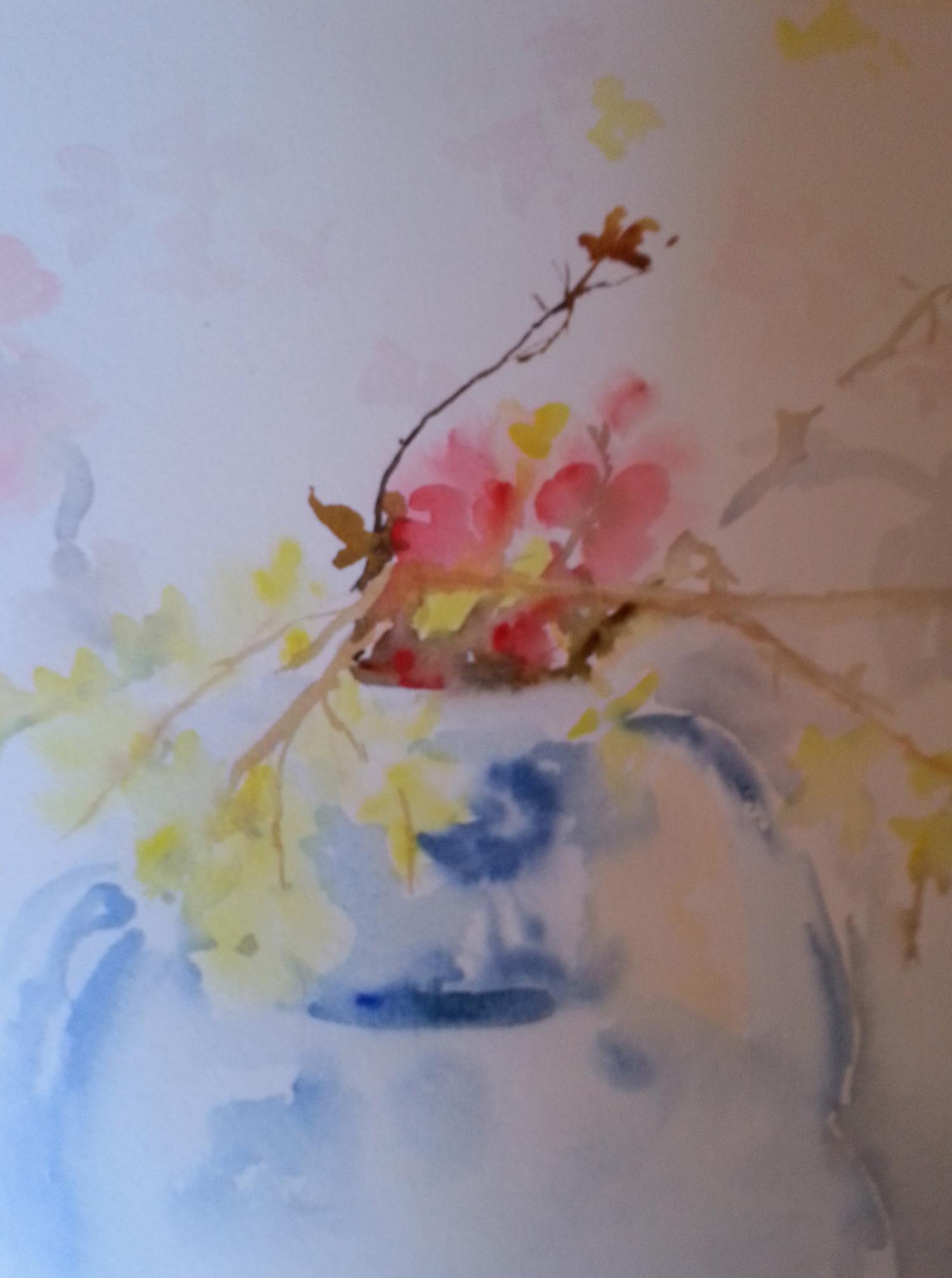 Estabilshing Vase and Flowers