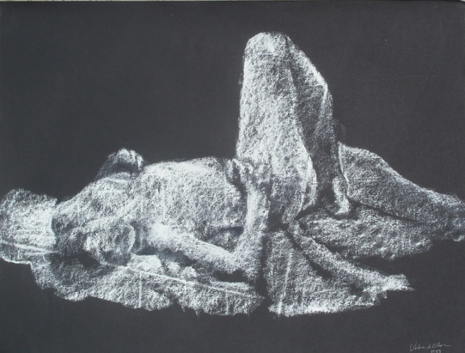 nude in white Chalk
