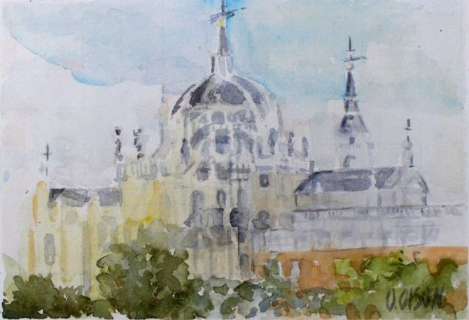 La Almudena Cathedral Madrid Spain 2015