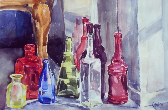 Bottles in a Corner 2015