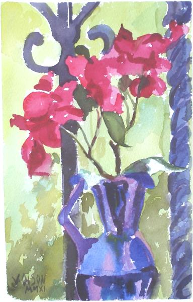 Bouganville in Purple Vase 2011