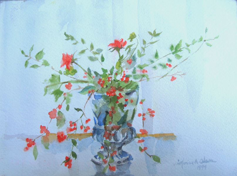 Bouquet in Crystal VAse 1994