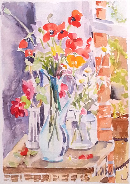Poppies, Daisies and Red Roses 2015