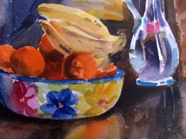Fruit Bowl with Blue Vase 2005