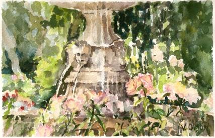 Fuente de Cúpido Rose Garden June 2009