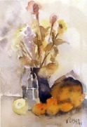 Loquats and Glass Bottle 1998