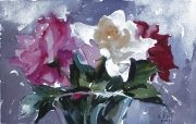 Roses in Crystal Vase 2011