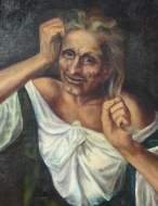 Old Woman Pulling Her Hair 1983 (Copy)