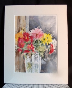 Colorful Flowers in Crystal Vase 2015