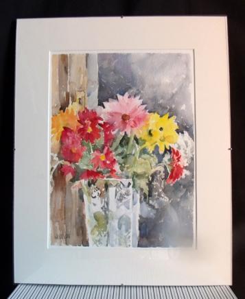 Colorful Flowers in Crystal Vase 2015