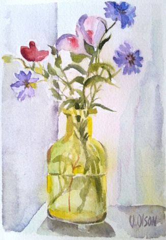 Chartreuse Bottle with California Wild Flowers 2016