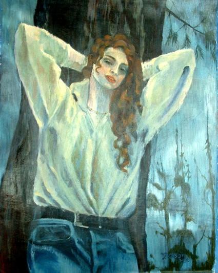 Leaning Girl 1996