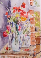 Poppies, Daisies and Red Roses 2016