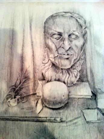Still life pencil on paper 1985