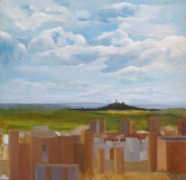 El Cerro de los Angeles 2000- Oil on Wood - 45 x 46.5 cm - Artist's collection - Location Madrid