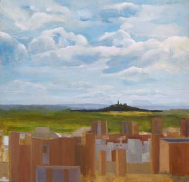 El Cerro de los Angeles 2000- Oil on Wood - 45 x 46.5 cm - Artist's collection - Location Madrid